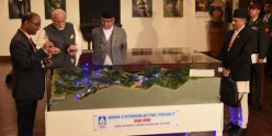 Foundation Stone of SJVN's 900 MW Arun-3 Hydro Electric Project jointly laid by Hon'ble Prime Minister of India & Hon'ble Prime Minister of Nepal